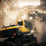 excavator demolition work machine